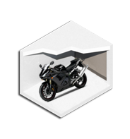 5' x 10' Motorcycle Enclosed Storage